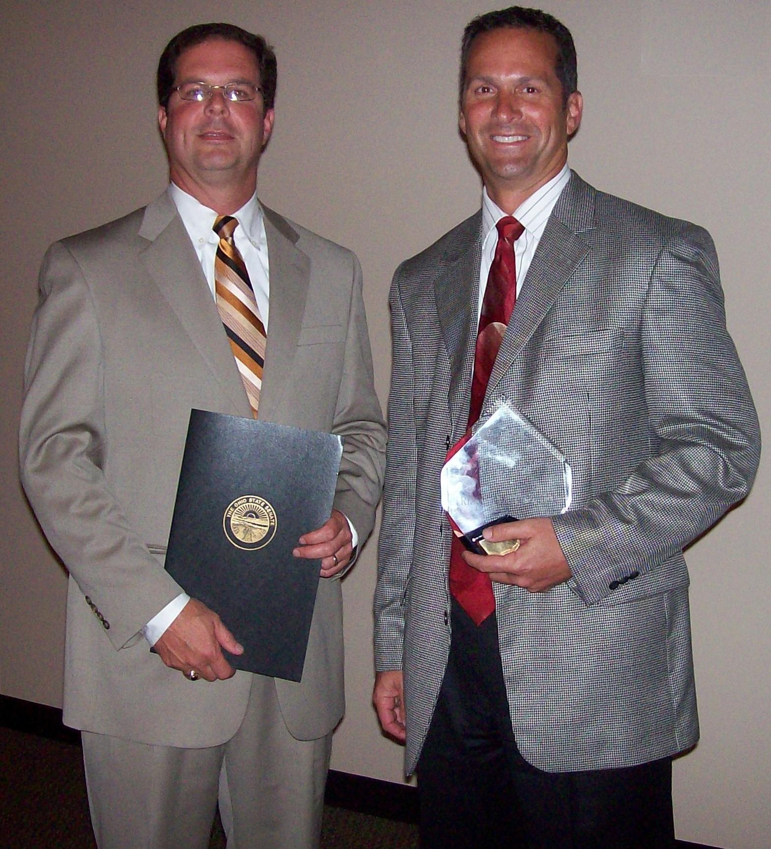 Brian and Steve accepting Small Biz Award 2009.JPG